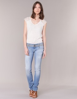 Clothing Women straight jeans Le Temps des Cerises 220 Blue / Clear