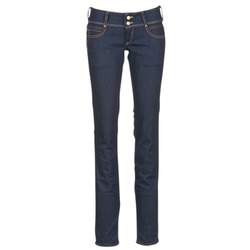 Clothing Women straight jeans Le Temps des Cerises 220 Blue / Raw
