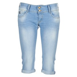 Clothing Women 3/4 & 7/8 jeans Le Temps des Cerises CHRISTIA Blue / Clear