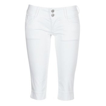 Clothing Women Cropped trousers Le Temps des Cerises NINA White