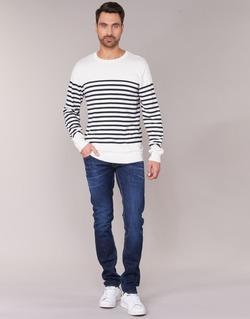 Clothing Men straight jeans Le Temps des Cerises 711 Blue / Dark