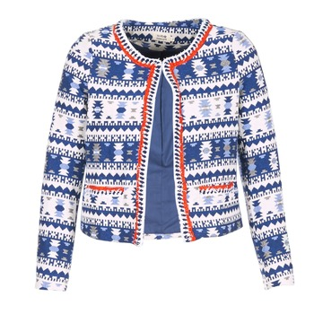 Clothing Women Jackets / Blazers Molly Bracken BERIP Marine / White / Orange
