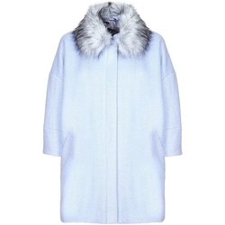 Clothing Women Duffel coats Anastsia -  Womens Blue Snow Queen Wool Winter Coat Blue