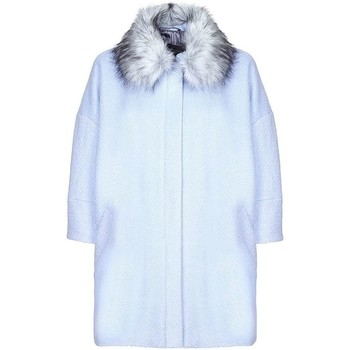 Clothing Women Duffel coats Anastasia -  Womens Blue Snow Queen Wool Winter Coat Blue