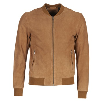 Clothing Men Leather jackets / Imitation leather Selected MARK CAMEL