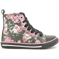 Shoes Girl Hi top trainers Primigi 6306 Sneakers Kid Nero