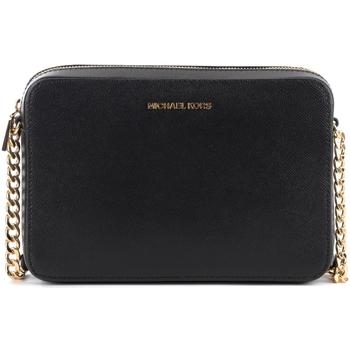 Bags Women Shoulder bags MICHAEL Michael Kors Michael Kors Jet Set shoulder bag in black saffiano leather Black