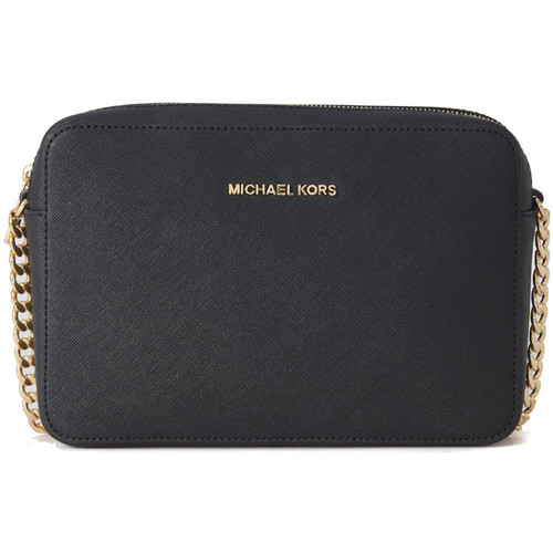 Bags Women Shoulder bags MICHAEL Michael Kors Jet Set shoulder bag in black saffiano leather Black