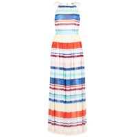 Clothing Women Long Dresses Tommy Hilfiger AGATON White / Blue / Orange