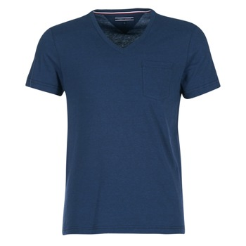 Clothing Men short-sleeved t-shirts Tommy Hilfiger HTR END ON END MARINE