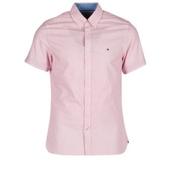 Clothing Men short-sleeved shirts Tommy Hilfiger TAMBER GEO Red