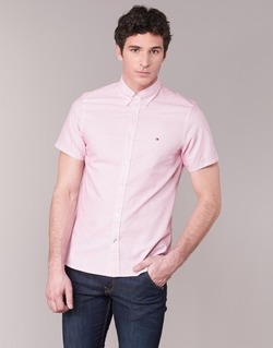 Clothing Men short-sleeved shirts Tommy Hilfiger TAMBER GEO Pink