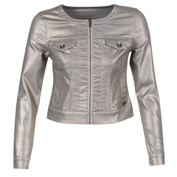 Clothing Women Denim jackets Les P'tites Bombes OMILATE Silver
