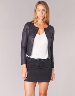 Clothing Women Denim jackets Les P'tites Bombes OMILATE Black