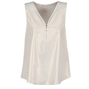 Clothing Women Tops / Blouses Les P'tites Bombes LOUVALE White / Gold
