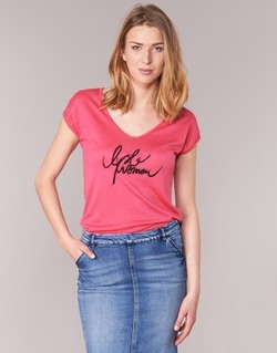 Clothing Women short-sleeved t-shirts Les P'tites Bombes CHOUBERNE Pink