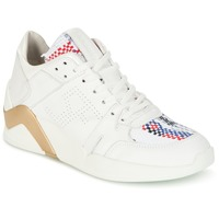 Shoes Women Hi top trainers Serafini CHICAGO White / GOLD