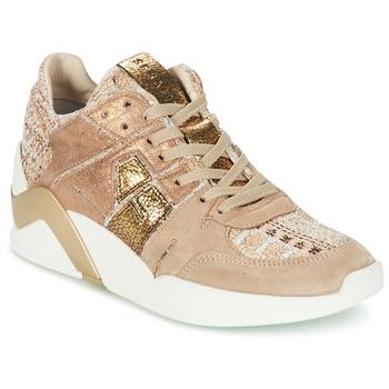 Shoes Women Hi top trainers Serafini CHICAGO Beige / Gold