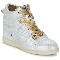 Shoes Women Hi top trainers Serafini MANHATTAN Silver / Gold