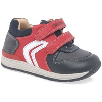 Shoes Boy Hi top trainers Geox Baby Rishon Boys First Trainers red