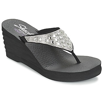 Shoes Women Flip flops Skechers LINEA Black