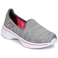 Shoes Girl Slip-ons Skechers GO WALK 4 Grey