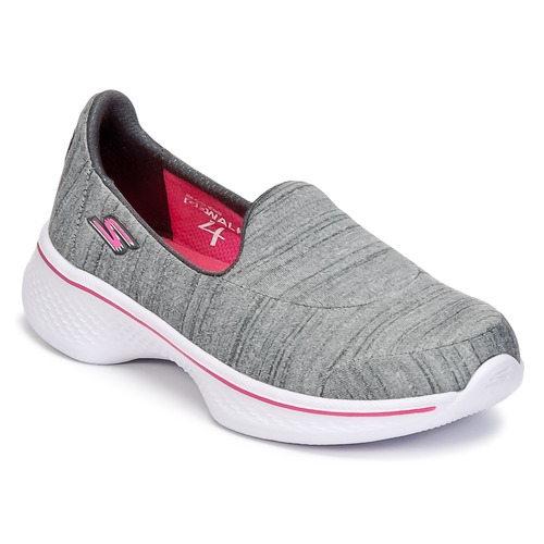 Shoes Girl Slip-ons Skechers GO WALK 4 Grey