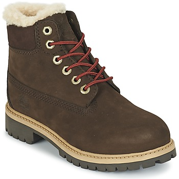 Shoes Children Mid boots Timberland 6 IN PRMWPSHEARLING RED / Briar
