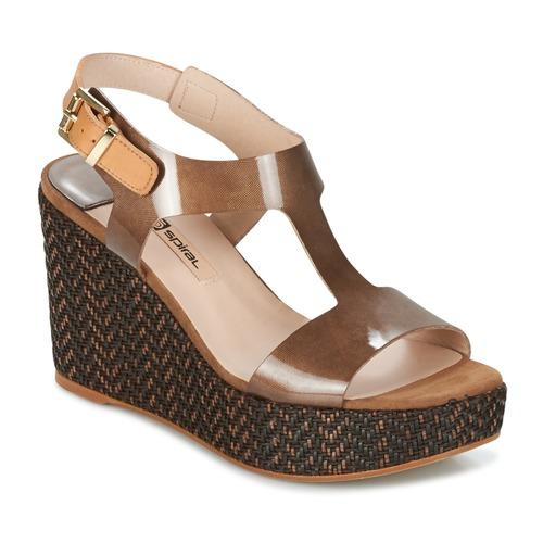 Shoes Women Sandals Spiral PAULA Brown