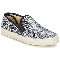 Shoes Women Espadrilles Spiral VIRGINIA Black / White