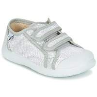 Shoes Girl Low top trainers Citrouille et Compagnie GLASSIA Silver