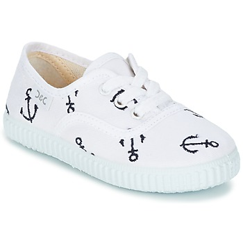 Shoes Children Low top trainers Citrouille et Compagnie KIPPI BOU White / Blue