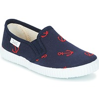 Shoes Boy Low top trainers Citrouille et Compagnie MIMI GARI MARINE / Red