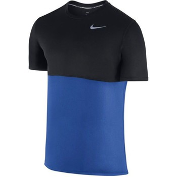 Clothing Men short-sleeved t-shirts Nike Racer Shortsleeve Black-Blue