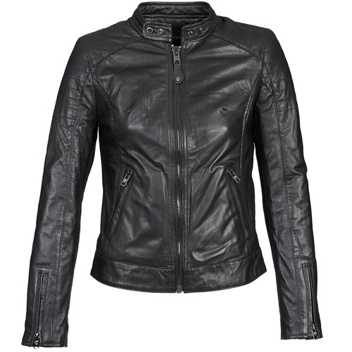 Clothing Women Leather jackets / Imitation leather Schott HARVEY Black