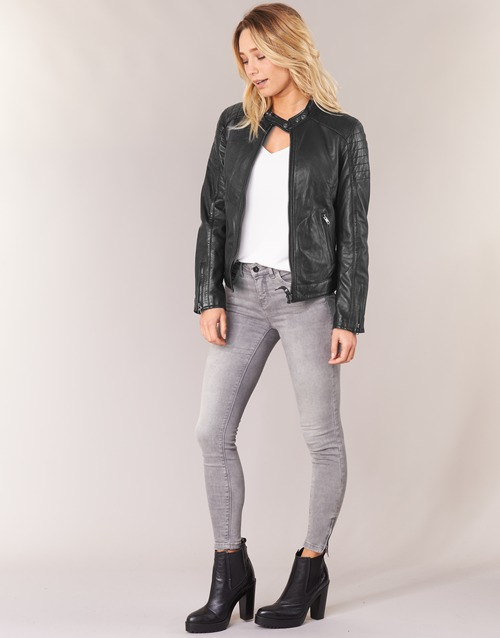 2020 Newest Schott HARVEY Black 493362 Women's Clothing