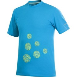 Clothing Men short-sleeved t-shirts Craft Active Logo Run Tee Blue