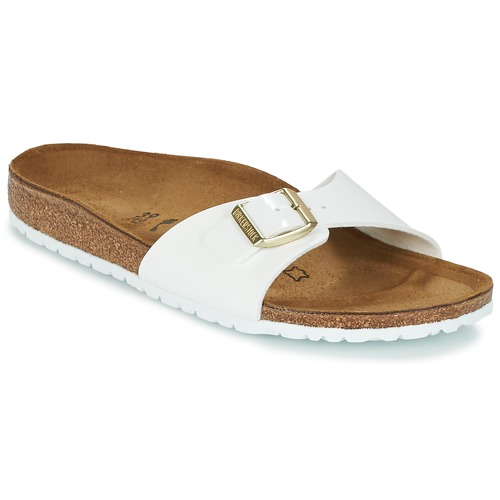 Shoes Women Mules Birkenstock MADRID White / Gold