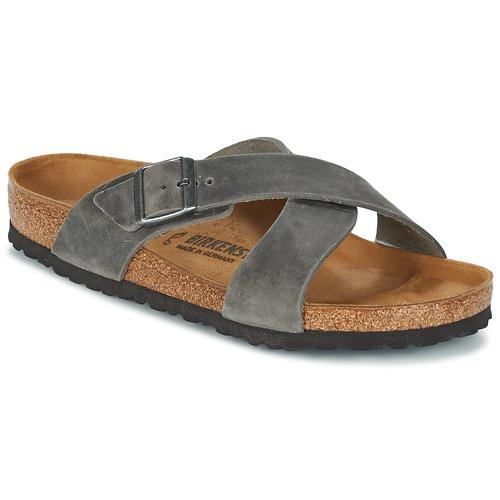 Shoes Men Mules Birkenstock TUNIS Grey