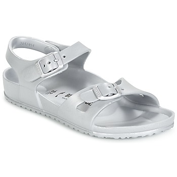 Shoes Girl Sandals Birkenstock RIO EVA Silver