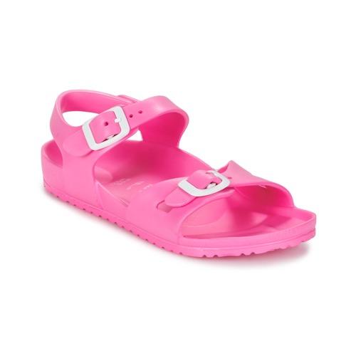 Shoes Children Sandals Birkenstock RIO EVA Pink / Fluorescent