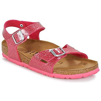 Shoes Children Sandals Birkenstock RIO Pink / Brillant