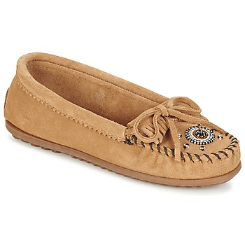Shoes Women Loafers Minnetonka ME TO WE MOC Taupe