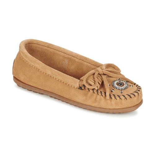 Shoes Women Loafers Minnetonka ME TO WE MOC Taupe