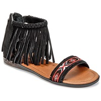 Shoes Women Sandals Minnetonka MOROCCO Black