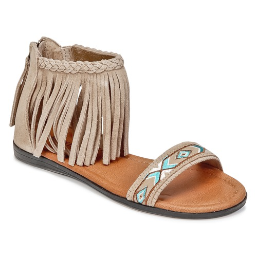 Shoes Women Sandals Minnetonka MOROCCO Taupe