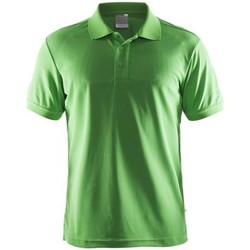 Clothing Men short-sleeved t-shirts Craft Shirt Pique Classic Green
