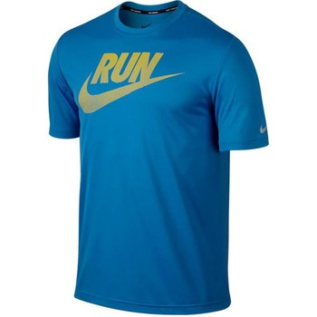 Clothing Men short-sleeved t-shirts Nike Drifit Graphic Challenger Blue