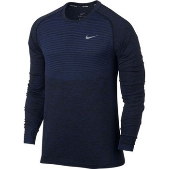 Clothing Men jumpers Nike Drifit Knit LS Black