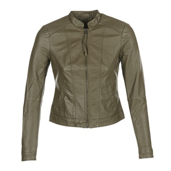 Clothing Women Leather jackets / Imitation leather Vero Moda QUEEN Kaki